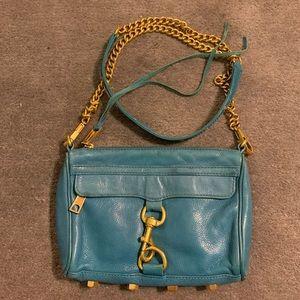 Rebecca Minkoff turquoise 'Mini Mac'